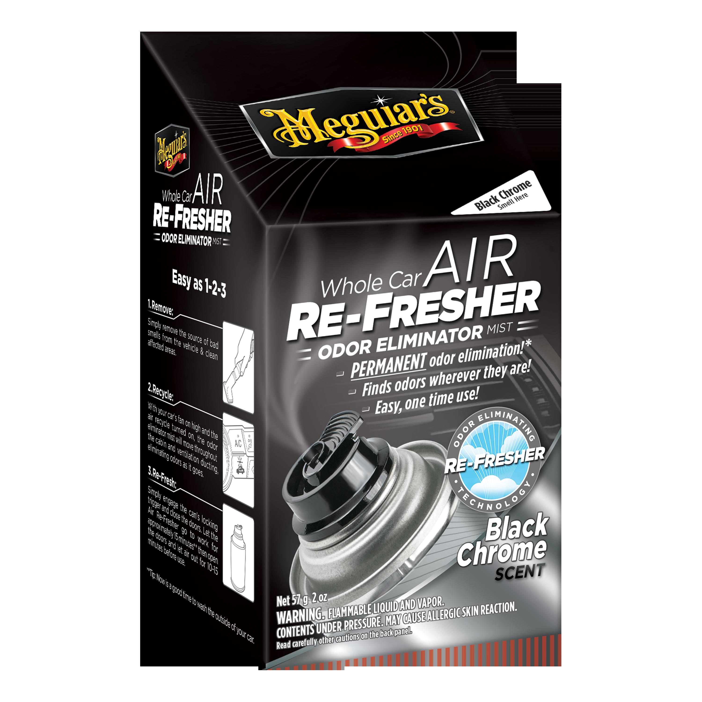 Meguiar's® Whole Car Air Re-Fresher Odor Eliminator - Black Chrome Scent - G181302, 2 oz