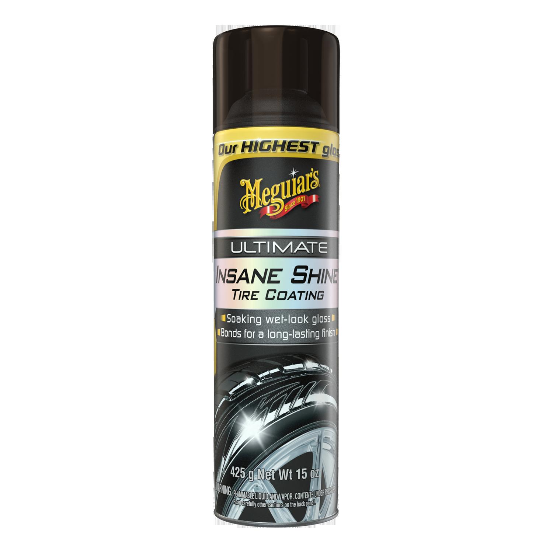 Meguiar's ® Ultimate Insane Shine™ Tire Coating – Soaking Wet-Look Tire Shine - G190315, 15 oz